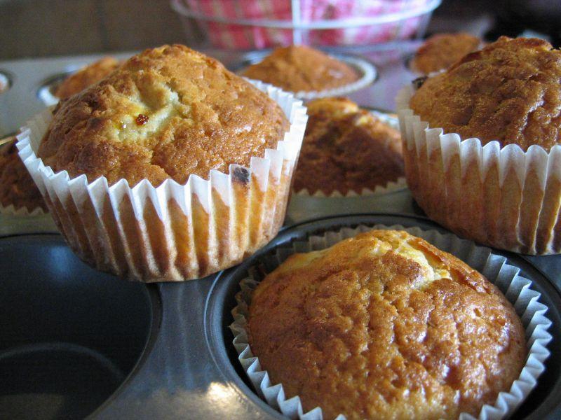 Muffin cioccolato bianco e banana