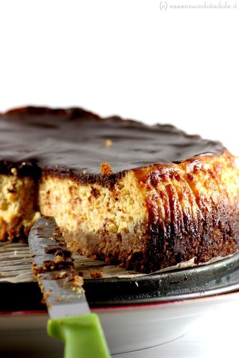 Cheesecake zucca, ricotta e cioccolato